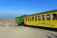 Montagem Washington Cog Railroad, New Hampshire fotos de stock