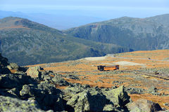 Montagem Washington Cog Railroad, New Hampshire foto de stock royalty free