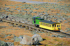 Montagem Washington Cog Railroad, New Hampshire imagem de stock