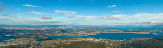 Montagem Wellington de Hobart Tasmânia foto de stock royalty free