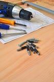 Montagemontagewerkzeuge lizenzfreies stockbild