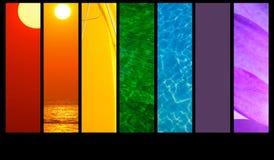 Montagesfarben stockbilder