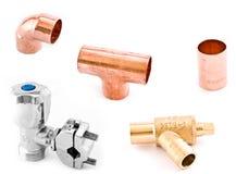 Montaggi dell'impianto idraulico di Asorted Immagini Stock Libere da Diritti