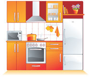 Montaggi della cucina, apparecchi illustrazione di stock