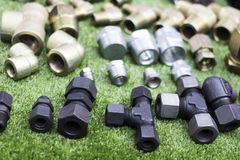 Montaggi per i tubi fotografia stock