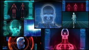 Montaggio bionico di scienza medica 3D (ciclo di HD)
