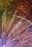 Montaggio dei fuochi d'artificio Immagini Stock Libere da Diritti