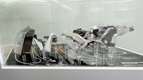 Montaggio del faro di Audi A8 Immagini Stock Libere da Diritti