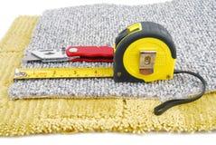 montaggio del tappeto fotografie stock