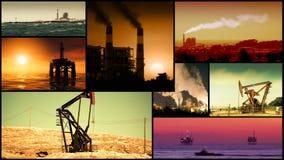 Montaggio del video di energia, di potere e del combustibile stock footage