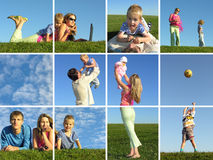 Montaggio della famiglia Fotografia Stock Libera da Diritti