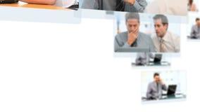 Montaggio della gente di affari di lavoro stock footage