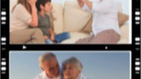 Montaggio della gente felice in varie situazioni archivi video