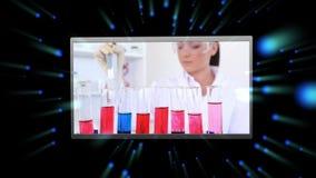 Montaggio delle clip del laboratorio stock footage