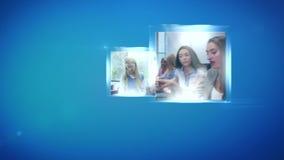 Montaggio delle donne di affari stock footage