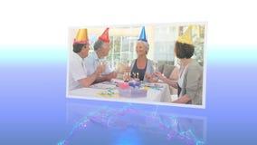 Montaggio di celebrazioni di compleanno video d archivio