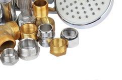 Montaggio e doccia dell'impianto idraulico Fotografie Stock Libere da Diritti