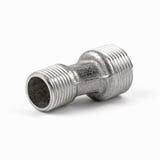 Montaggio e valvola a sfera dell'impianto idraulico, isolati su fondo bianco immagine stock