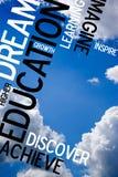 Montaggio educativo del cielo Fotografie Stock Libere da Diritti