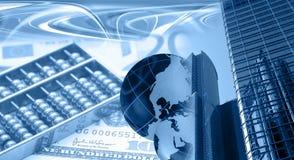 Montaggio finanziario Fotografia Stock