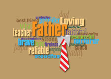 Montaggio grafico di parola del padre con la cravatta Immagine Stock
