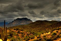 Montagna 105 del deserto immagine stock