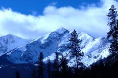 Montagna 3 dello Snowy Fotografie Stock Libere da Diritti