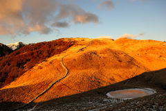 Montagna Alba Alba Mountain Fotografia Stock Libera da Diritti