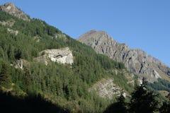 Montagna in alpi, Francia Fotografia Stock Libera da Diritti
