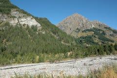 Montagna in alpi, Francia Fotografia Stock