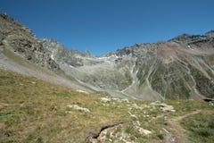 Montagna in alpi, Francia Immagini Stock