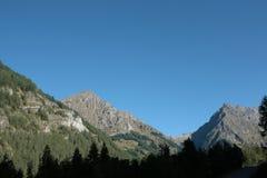 Montagna in alpi, Francia Immagine Stock