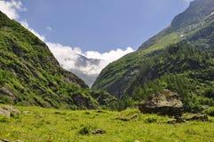 Montagna alpina della Svizzera Immagine Stock Libera da Diritti