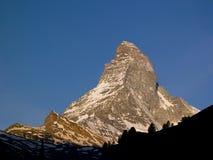 Montagna alpina Matterhorn Zermatt Immagine Stock