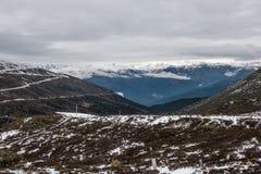 Montagna in altopiano, Tibet, Cina fotografia stock libera da diritti