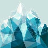 Montagna astratta del blu della geometria Fotografia Stock Libera da Diritti