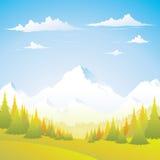 Montagna - autunno Fotografie Stock Libere da Diritti