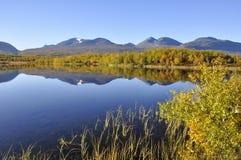 Montagna in autunno fotografia stock