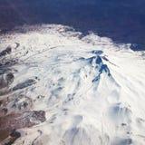 Montagna bianca blu della neve Immagini Stock Libere da Diritti