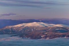 Montagna bianca Koralpe immagini stock