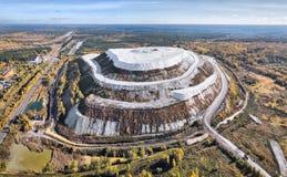 Montagna bianca - pila del gesso vicino a Voskresensk, Russia fotografia stock libera da diritti
