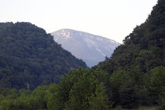 Montagna blu Fotografie Stock Libere da Diritti