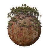 Montagna calda a terra del globo Fotografia Stock