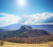 Montagna calva di Ivan Crimean fotografie stock