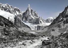 Montagna Cerro Torre fotografia stock