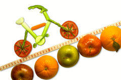 Montagna che Biking alla salute Fotografie Stock