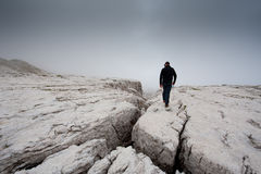 Montagna che trekking Fotografie Stock Libere da Diritti