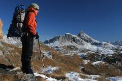Montagna che trekking Fotografia Stock