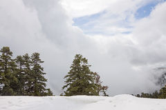 Montagna Cloudscape di inverno Fotografie Stock