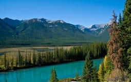 Montagna con colore di autunno Immagini Stock
